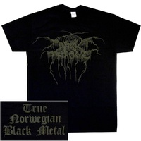 Darkthrone True Norwegian Black Metal Grey Logo Shirt Dark Throne