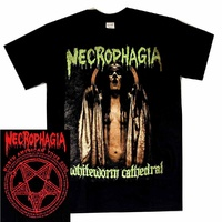 Necrophagia Whiteworm Cathedral Tour Shirt