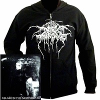 Darkthrone A Blaze In The Northern Sky Zip Hoodie