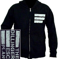 Dillinger Escape Plan White Flag Logo Hoodie