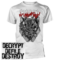 Exhumed Casket Crusher White Shirt