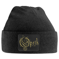 Opeth Gold Logo Patch Beanie Hat