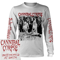 Cannibal Corpse Butchered At Birth White Long Sleeve Shirt