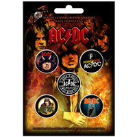 AC/DC Highway To Hell Button Badge Pack