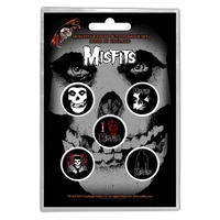 Misfits Fiend Skull Button Badge Pack