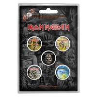 Iron Maiden Faces Of Eddie Button Badge Pack