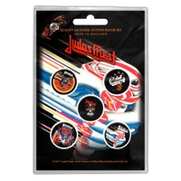 Judas Priest Turbo Button Badge Pack