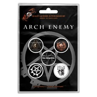 Arch Enemy Will To Power Button Badge Pack
