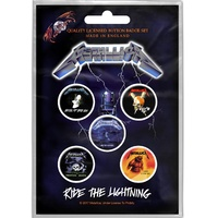 Metallica Ride The Lightning Button Badge Pack