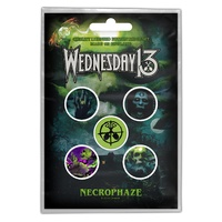 Wednesday 13 Necrophaze Badge Button Pack