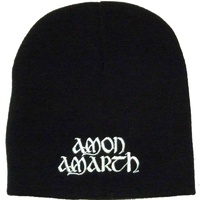 Amon Amarth White Logo Embroidered Beanie Hat