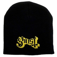 Ghost Logo Embroidered Beanie Hat