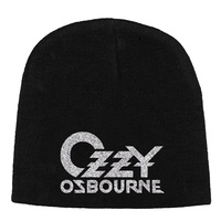 Ozzy Osbourne Logo Embroidered Beanie Hat