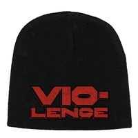 Vio-lence Logo Embroidered Beanie Hat