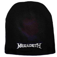 Megadeth Embroidered Logo Beanie Hat
