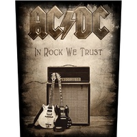 AC/DC In Rock We Trust Back Patch