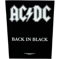 AC/DC Back In Black Back Patch
