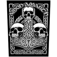 Amon Amarth Three Skulls Back Patch