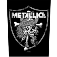 Metallica Raiders Skull Back Patch