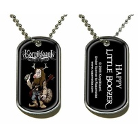 Korpiklaani Happy Little Boozer Dog Tag Necklace
