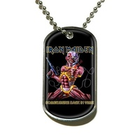 Iron Maiden Somewhere Back In Time Dog Tag Necklace