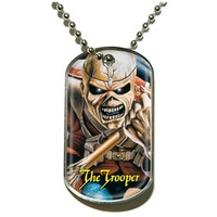 Iron Maiden The Trooper Dog Tag Necklace