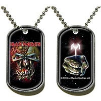 Iron Maiden Final Frontier Face The Key Dog Tag Necklace