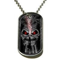 Iron Maiden Eddie Finger Dog Tag Necklace