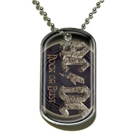 AC/DC Rock Or Bust Dog Tag Necklace