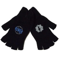 AC/DC Black Ice logo & Angus Cog Fingerless Gloves