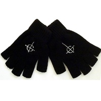 Ghost Cross Fingerless Gloves
