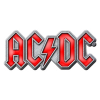 AC/DC Red Logo Metal Pin Badge