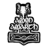 Amon Amarth Hammer Metal Pin Badge