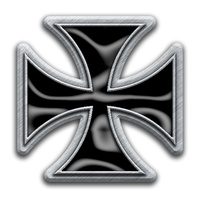 Iron Cross Metal Pin Badge