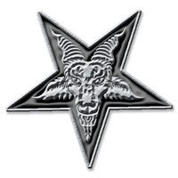 Pentagram Metal Pin Badge