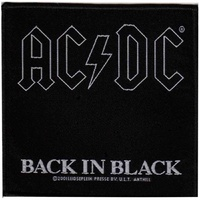 AC/DC Back In Black Patch