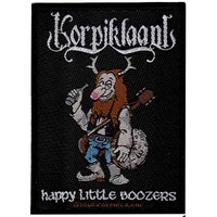 Korpiklaani Happy Little Boozers Woven Patch