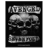 Avenged Sevenfold 3 Skulls Patch