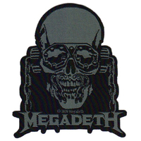 Megadeth Vic Rattlehead Cut Out Woven Patch