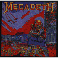 Megadeth Peace Sells Woven Patch