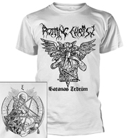 Rotting Christ Satanas Tedium White Shirt
