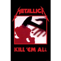 Metallica Kill Em All Premium Fabric Poster Flag