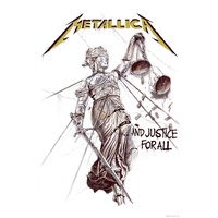 Metallica And Justice for All Premium Fabric Poster Flag