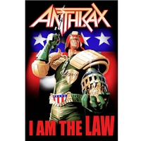 Anthrax I Am The Law Poster Flag
