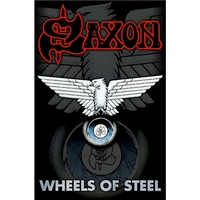 Saxon Wheels Of Steel Poster Flag