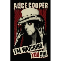 Alice Cooper I'm Watching You Poster Flag