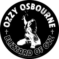 Ozzy Osbourne Blizzard Of Ozz Circular Back Patch