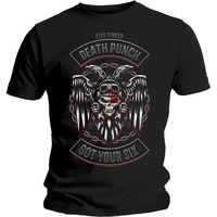 Five Finger Death Punch Biker Badge Shirt