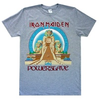 Iron Maiden Powerslave Grey Shirt
