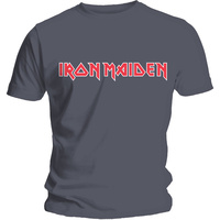 Iron Maiden Classic Logo Charcoal Shirt